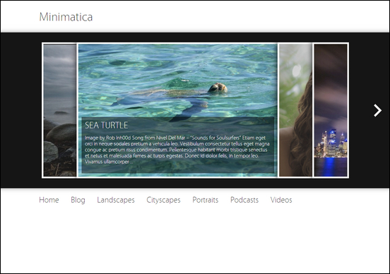 Minimatica is a cool free photography style WordPress theme