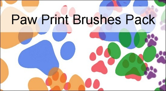 paw-print-brushes