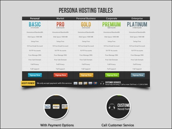 45 pricing table designs for inspiration creative for Table design web
