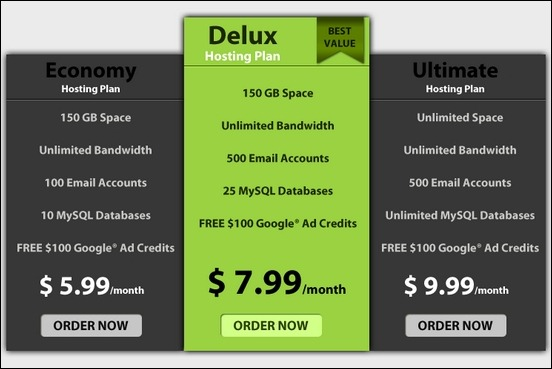 45 pricing table designs for inspiration creative for Comparison table design