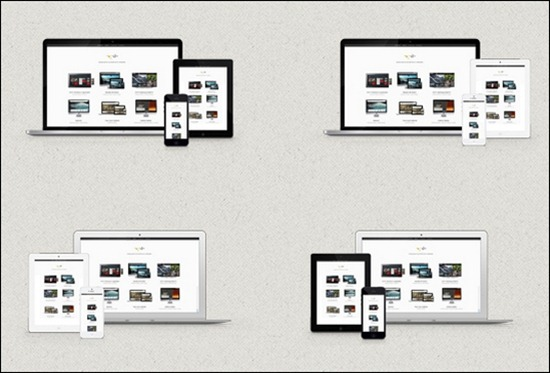 40+ cool minimalistic photoshop device psds - creative cancreative can, Powerpoint templates