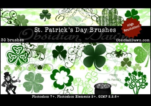 st-patricks-day-brushes