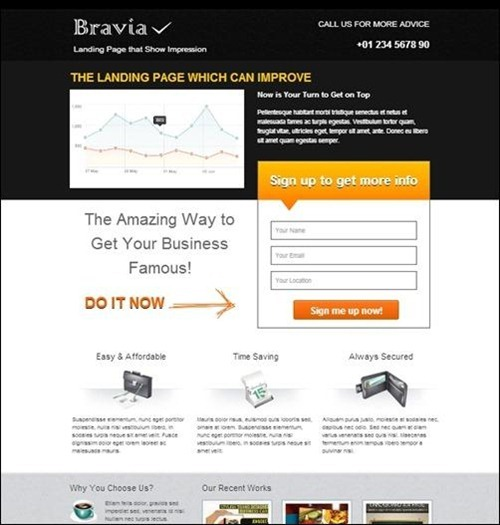 Landing Page Html Template. 21 landing page website templates free ...