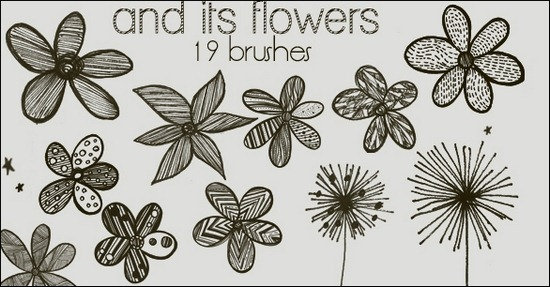 and-its-flowers-brushes