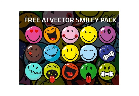 free-ai-vector-smiley-pack