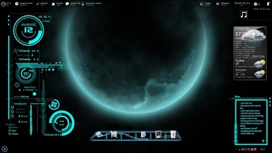 50+ Amazing Rainmeter Desktop Skins - Take Your Desktop To
