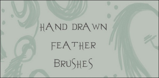 hand-drawn-feather-brushes