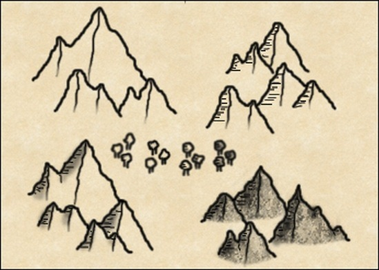 mountain-and-tree-brushes