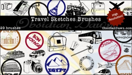 travel-sketches-brushes