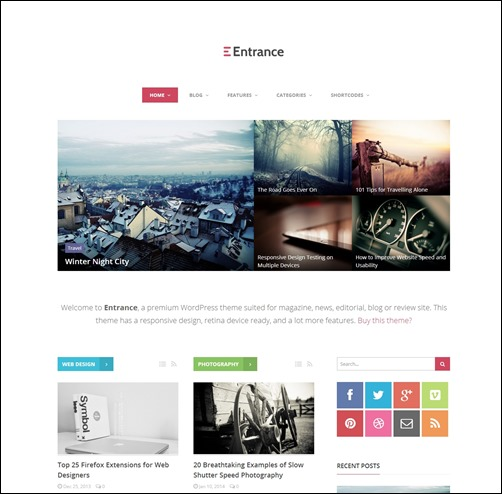 Entrance-wordpress-review-theme