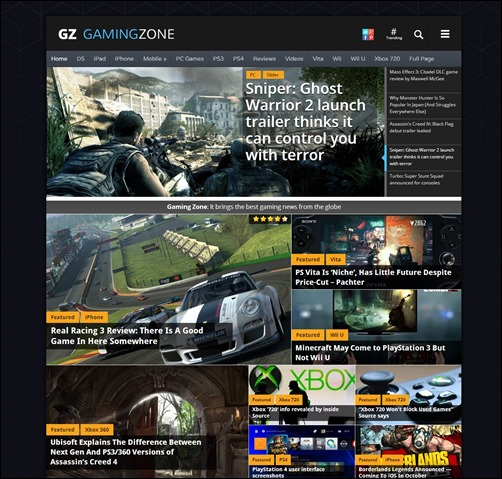 GamingZone-wordpress-review-theme