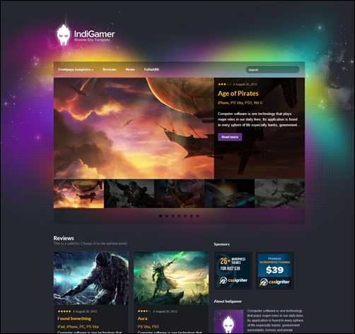 IndiGamer-wordpress-review-theme